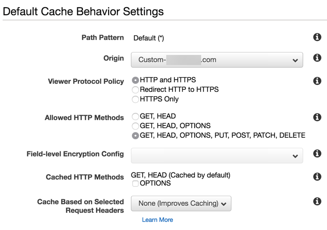 Caching Behaviour
